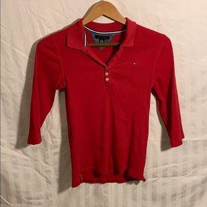 Tommy Hilfiger long sleeve red top girls medium